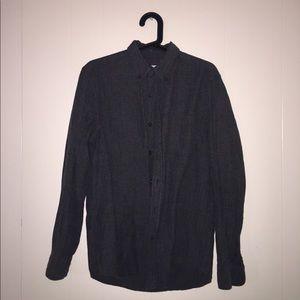 Small Gray Men's Button Down Shirt